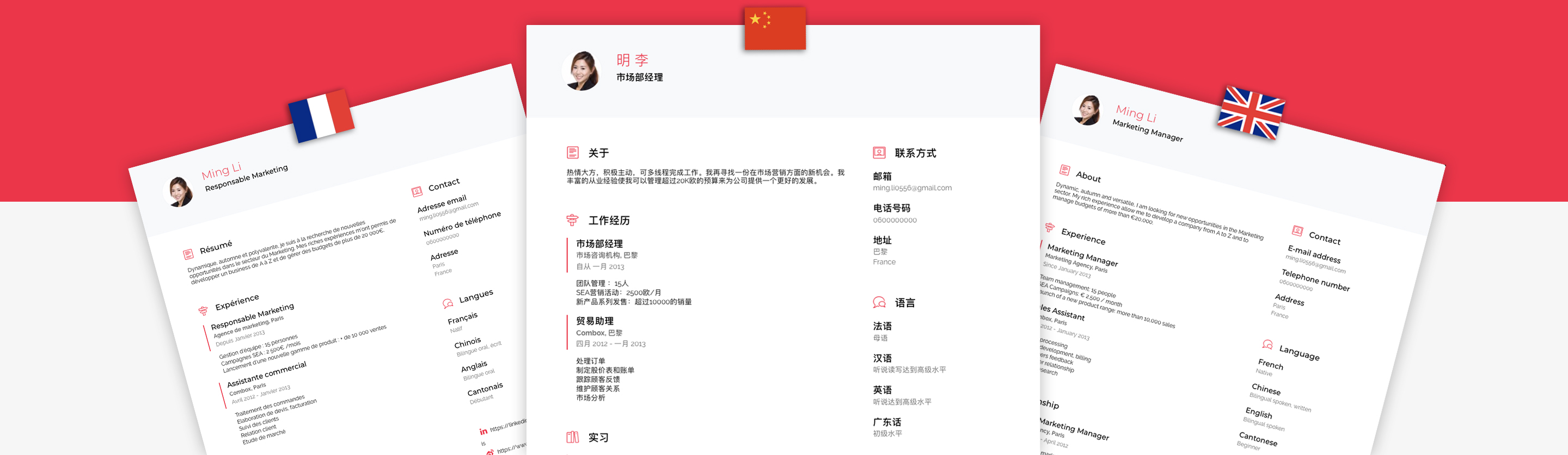 CV builder in chinese